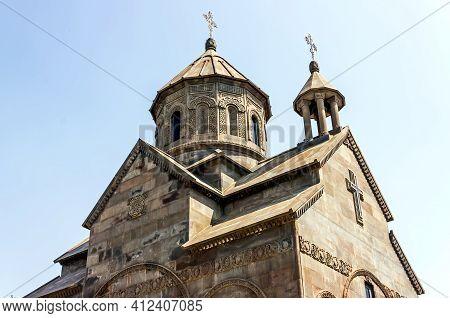 Beautiful Ancient Armenian Church Made Of Basalt Stone.
