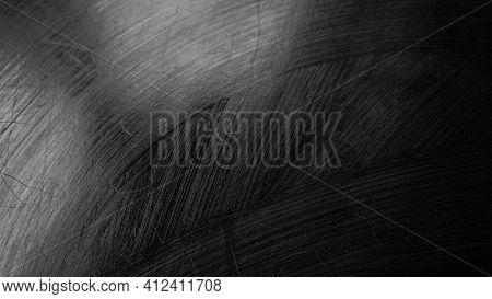 Washed Blackboard. Wet Blackboard. Texture Of A Black Background