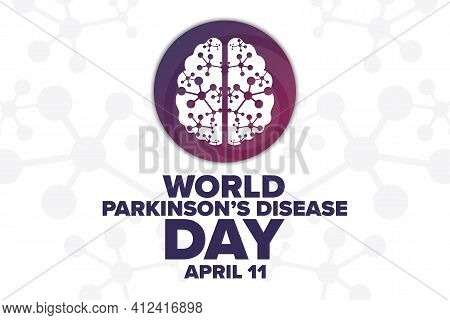 World Parkinson Disease Day. April 11. Holiday Concept. Template For Background, Banner, Card, Poste