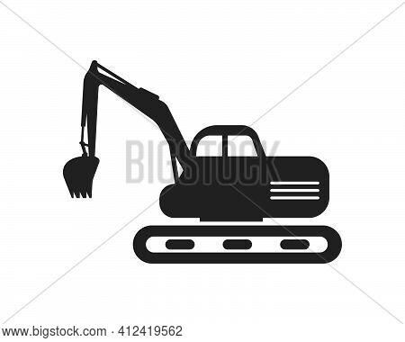 Excavator  Ilustration Logo Vector Icon