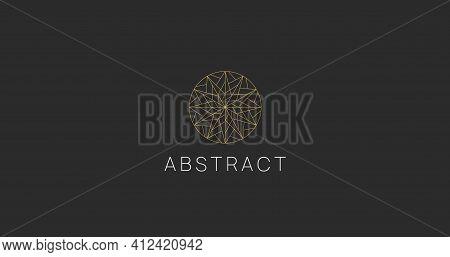 Abstract Polygonal Circle Ornament Logo Design. Modern Linear Logotype.