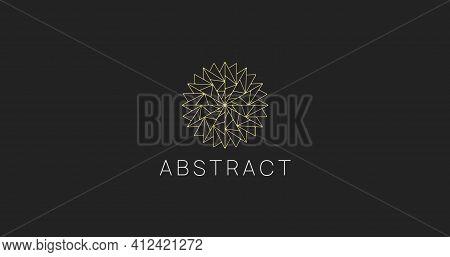 Linear Abstract Polygonal Star Logo Sign. Modern Geometric Logotype.