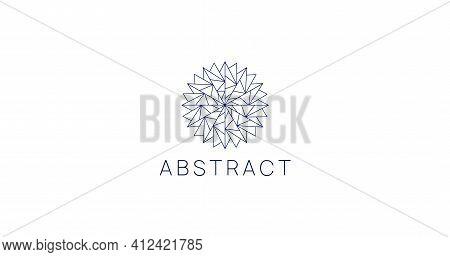 Modern Linear Polygonal Geometric Logo Sign. Abstract Logotype.