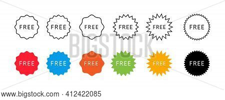 Set Of Free Vector Icons. Gift Label Stickers Collection.