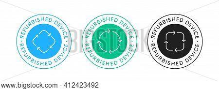 Refurbished Device Icon Sign Vector Design. Restored Tech Emblem.