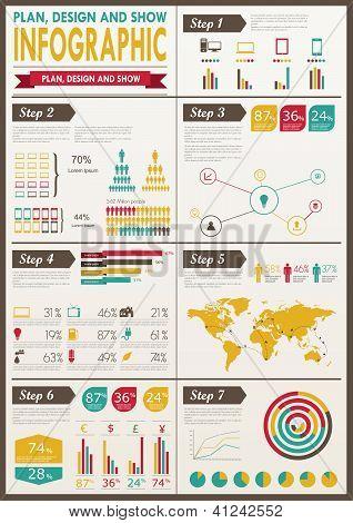 Detail infographic vector illustration.
