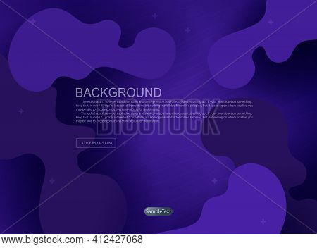 Blue Background With Randomly Drawn Abstract Oval Shapes, Oblique Pale Lines