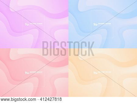 Abstract Colors Liquid Design Of Fluid Artwork Template. Movement Style Artwork Of Blending Style Se
