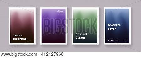 Set Of Dark Gradient Color Background. Minimal Abstract Posters. Collection. Modern Vector Template