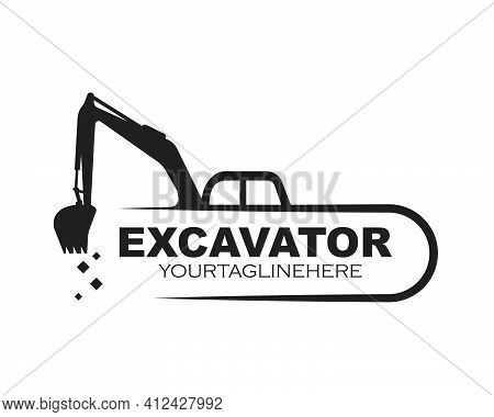 Excavator Icon Logo Vector Design