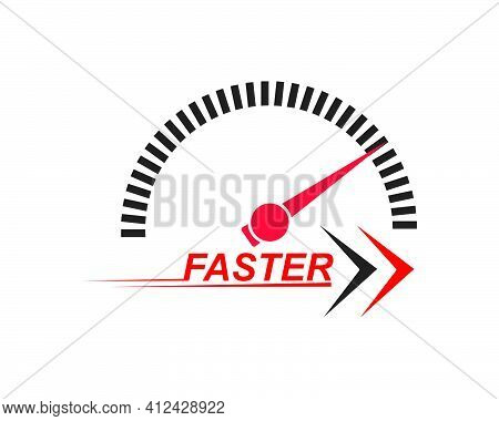 Faster Speed Logo Icon Of Automotive Racing Concep