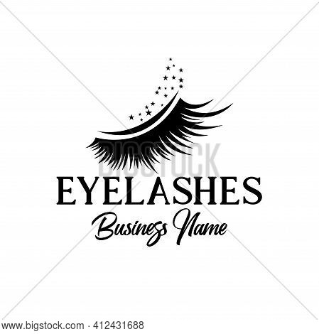 Eyelashes Design Logo Vector. Eyelashes Illustration Beauty Logo