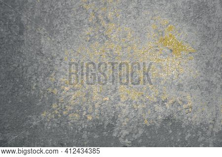 Corroded Metal Background. Oxidized Metal Texture, Rusty Metal Surface With Streaks Of Rust, Tinted