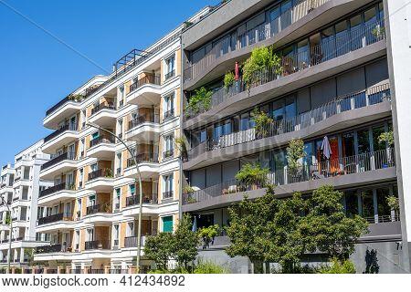 Modern Upscale Apartment Buildings Seen In Berlin, Germany