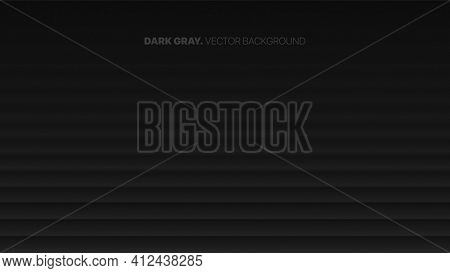 Smooth Fading Straight Lines 3d Vector Blurred Effect Dark Gray Abstract Background. Rendered Wall.