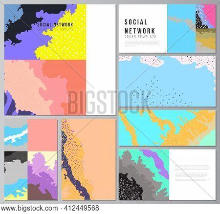 Vector Layouts Of Modern Social Network Mockups For Cover Design, Website Design, Website Background