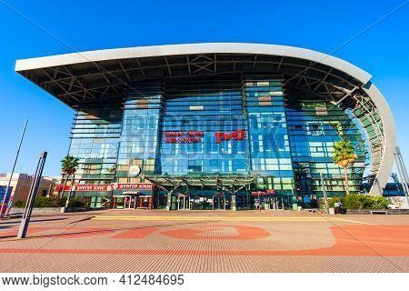 Sochi, Russia - October 06, 2020: Adler Railway Station Building Is A Railway Station In Adler Distr