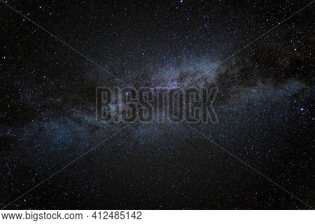 Starry Milky Way Galaxy On A Deep Universe Stars Field, Outer Space, Background Wallpaper
