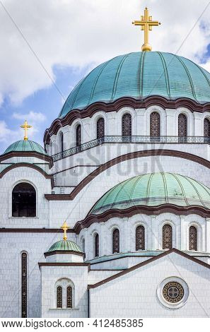 Belgrade, Serbia, March 2021 Saint Sava Temple In Belgrade