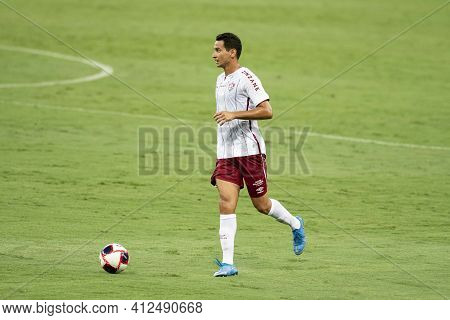 Rio, Brazil - March 14, 2021: Paulo Henrique Ganso Player In Match Between Flamengo V Fluminense By