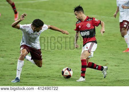 Rio, Brazil - March 14, 2021: Michael Player In Match Between Flamengo V Fluminense By Carioca Champ