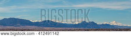 Colorado Living. Denver, Colorado - Denver Metro Area Residential Winter Panorama With The View Of A