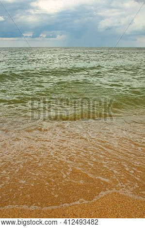 Seascape, Vertical Background For Mobile Desktop, Summer Seascape With Bright Natural Colors.