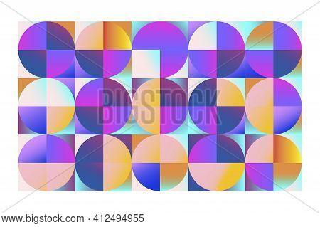 Round Shape. Abstract Circle Geometric Shape. Modern Vector Illustration. Stock Image. Eps 10.