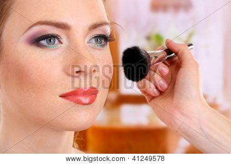 Make up backstage