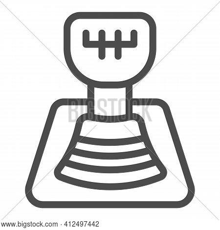 Automotive Gear Knob Line Icon, Car Parts Concept, Car Transmission Sign On White Background, Gear B