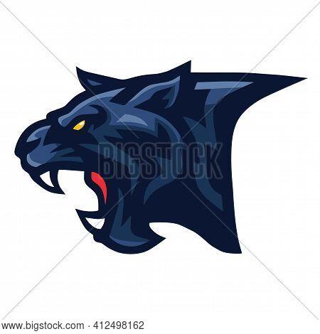 Black Panther Jaguar Head Logo Vector Sports Esports Mascot
