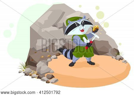 Raccoon Scout Geologist Found Rock Copper Ore