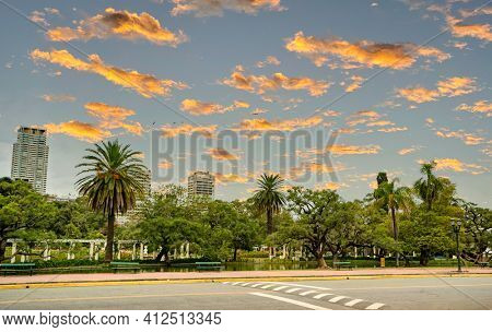 Rosedal park in Buenos Aires Argentina