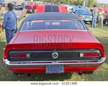 Red Ford Maverick Grabber Rear View