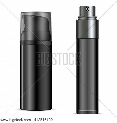 Shave Foam Bottle, Aerosol Packaging Can Mockup. Ma Hygiene Shave Gel Dispenser Shiny Template, Pers