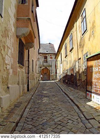 Bratislava, Slovakia - 10 Jun 2011: The Street In Bratislava, Slovakia