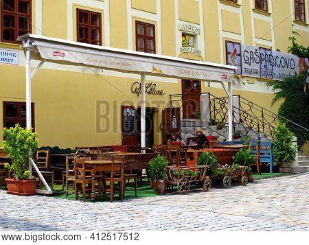 Bratislava, Slovakia - 10 Jun 2011: The Cafe In Bratislava, Slovakia