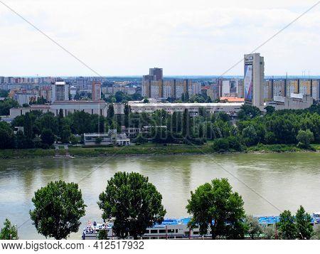 Bratislava, Slovakia - 10 Jun 2011: The Embankment In Bratislava City, Slovakia