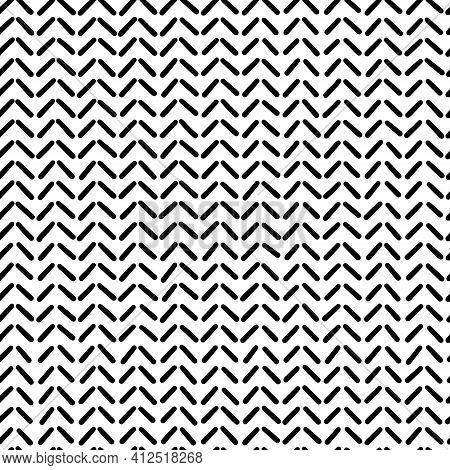 Black Vector Oblique Dashed Lines, Seamless Pattern. Design Element For Prints, Backgrounds, Templat