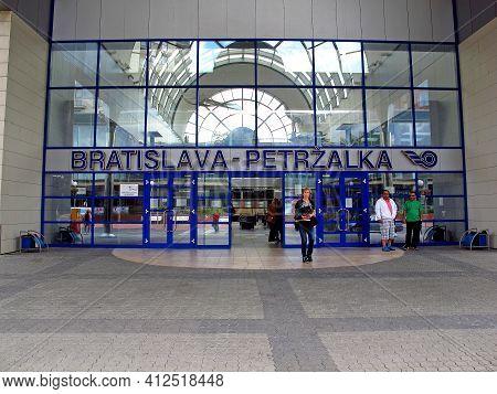 Bratislava, Slovakia - 10 Jun 2011: The Train Station In Bratislava, Slovakia