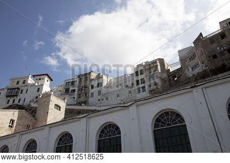 Mahon, Menorca / Spain - June 25, 2016: A View Of Old Town In Mahon, Mahon, Menorca, Balearic Island
