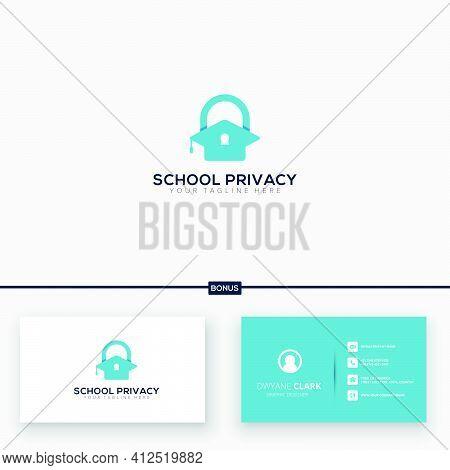 School And Privacy Academy Logo, Modern Key Academy Logo