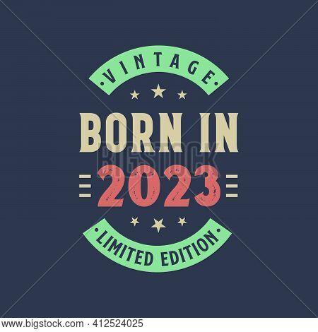 Vintage Born In 2023, Born In 2023 Retro Vintage Birthday Design