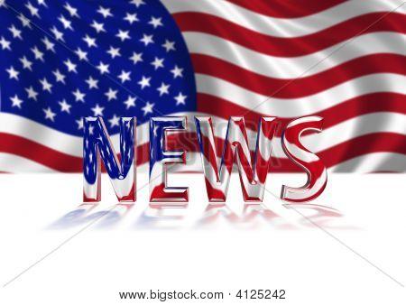 3D Shiny Usa News Text