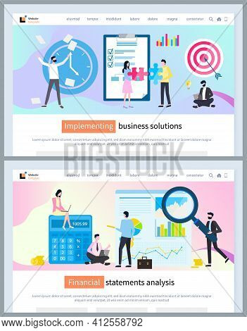 Implementing Business Solutions, Financial Statements Analysis, Landing Page Of Website, Strategy