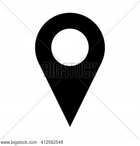 Vector Location Icon. Modern Map Pin Place Marker. Navigation Map, Gps, Direction, Place, Compass, C