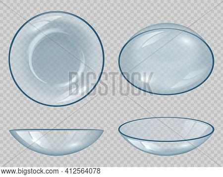 Contact Lens. Eyes Optical Items Clean Healthy View Clear Correction Sight Decent Vector Realistic S