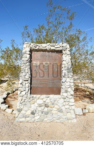 CHIRIACO SUMMIT, CA - DECEMBER 10, 2016: Congressional Medal of Honor Memorial at the General Patton Memorial Museum. The memorial honors the CMH recipients from the Coachella Valley.