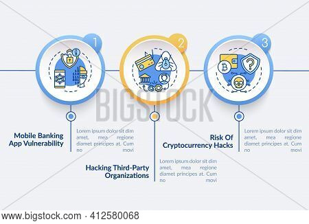 Risk Of Cryptocurrency Hacks Vector Infographic Template. Hacking Organization Presentation Design E