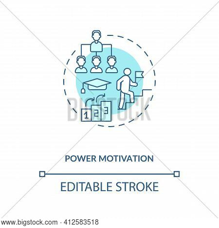Power Motivation Concept Icon. Motivating For Control Destiny Idea Thin Line Illustration. Leading P